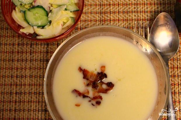 Сырный суп с беконом - фото шаг 5
