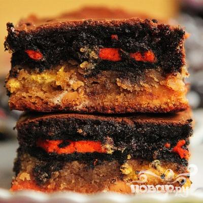 Пирожные с шоколадными печеньями и M&M's - фото шаг 6