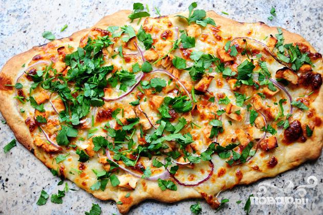 Пицца с курицей и сыром - фото шаг 21