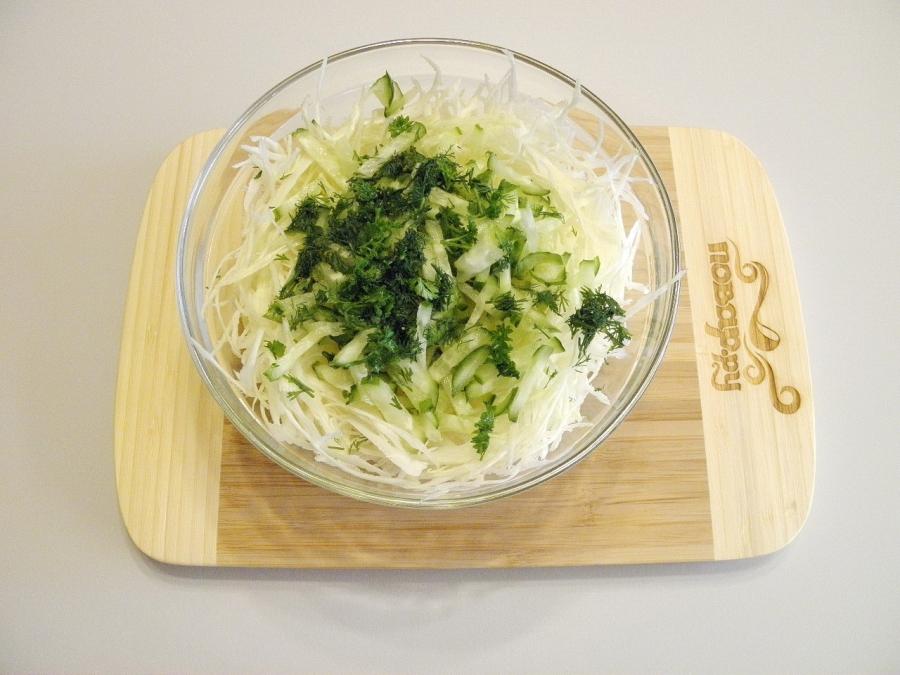 Салат из капусты - фото шаг 4