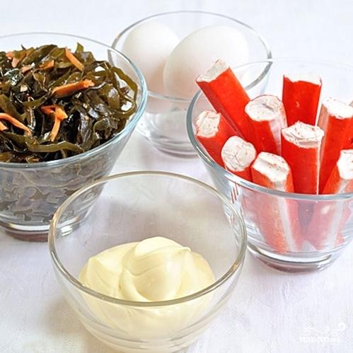 Салат с морской капустой - фото шаг 1