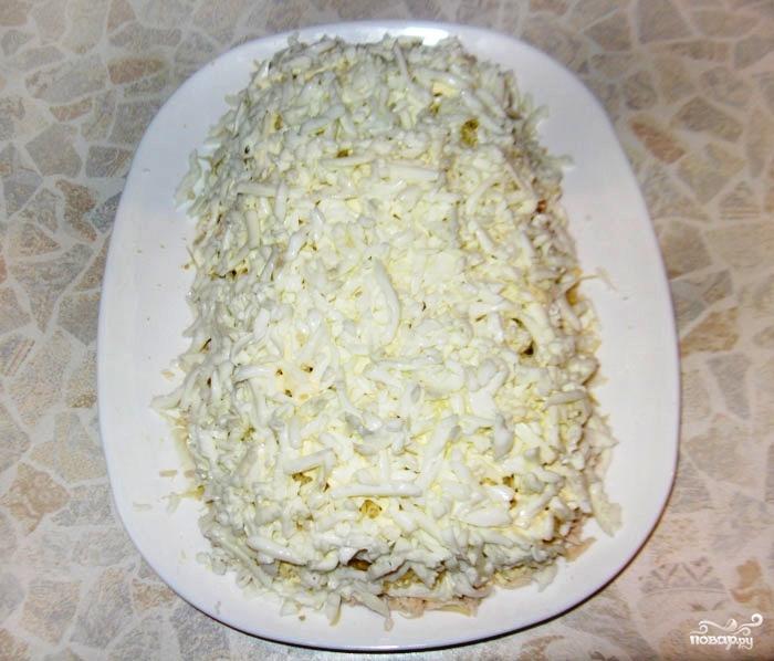 Салат Белая Береза из куриного филе - фото шаг 6