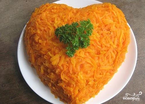 Салат в виде сердца
