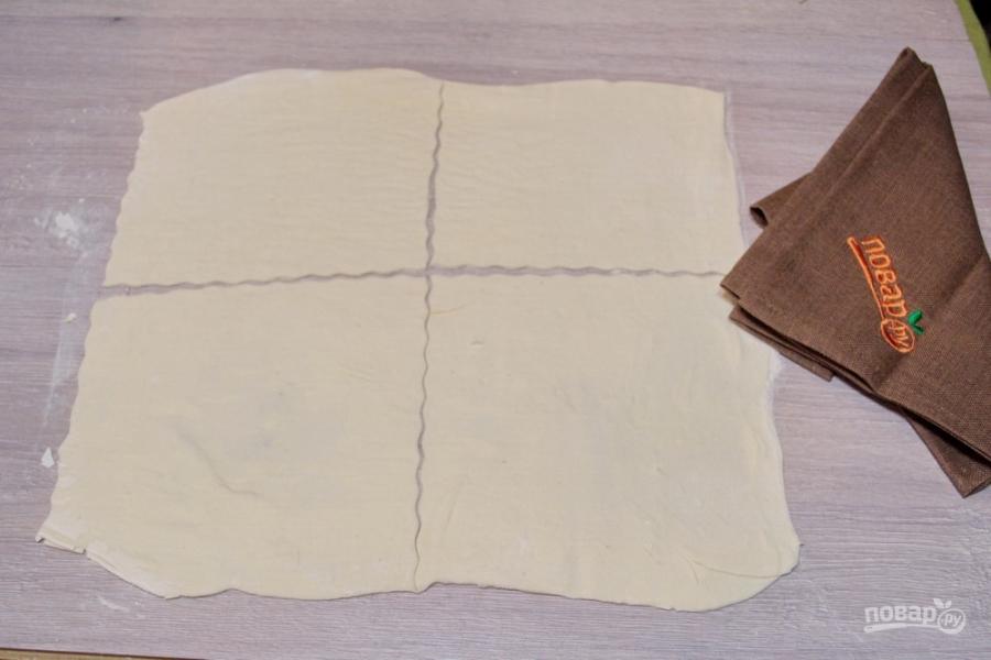 Слоеное бездрожжевое тесто с творогом - фото шаг 1
