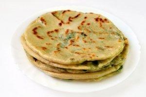 блины на кефире с зеленью и сыром рецепт #10
