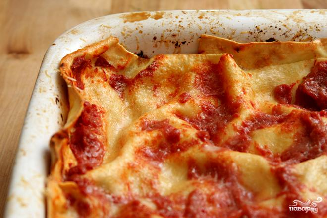 Лазанья с помидорами и сыром - фото шаг 3