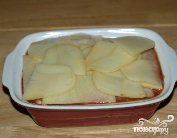 Колбасная запеканка с помидорами и фасолью - фото шаг 3