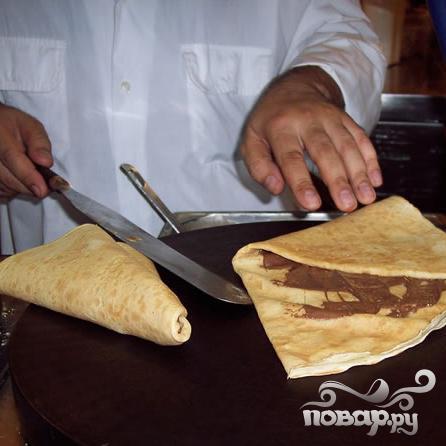 Блинчики с шоколадным ореховым кремом - фото шаг 6