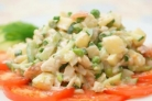 Салат с отварной треской