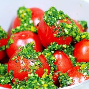 Рецепт Помидоры фаршированные зеленью