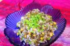 Турецкий салат с рисом и чечевицей