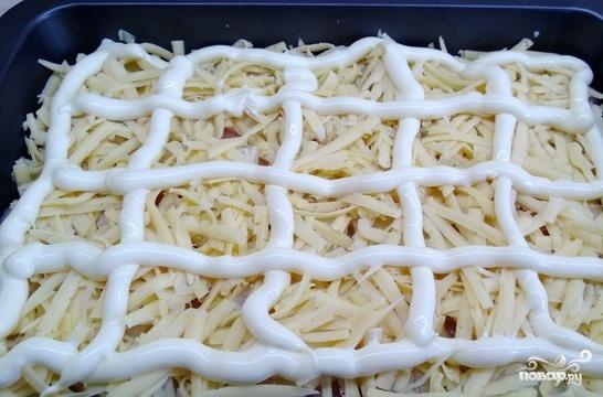 Куриная грудка с ананасами в духовке - фото шаг 4