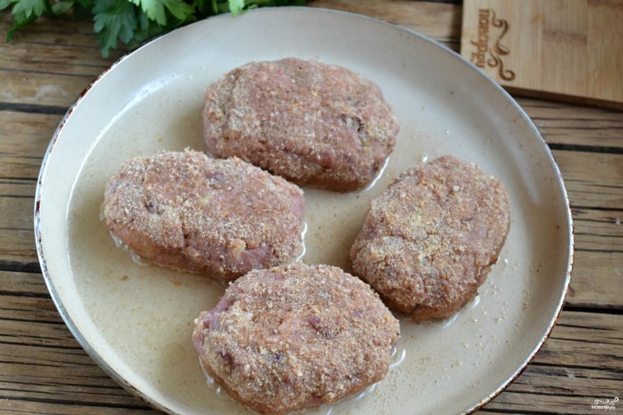 котлеты из индюшачьего фарша рецепт на сковороде с фото