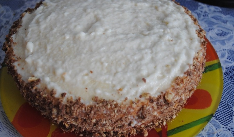 Бисквитный торт в мультиварке - фото шаг 10