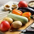 Рецепт Овощной шашлык в кляре