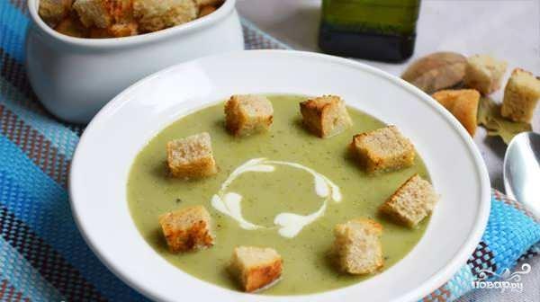 Овощной суп с брокколи