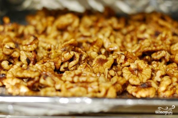 Рецепт Жареные креветки с медом
