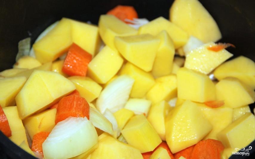 Суп картофельный с овощами - фото шаг 3
