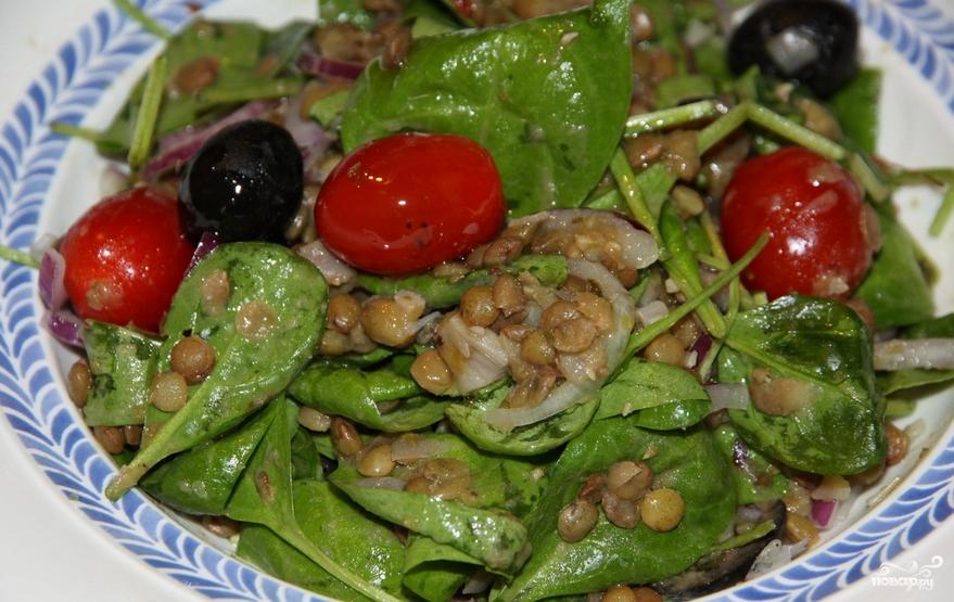 Салат из чечевицы с овощами - фото шаг 3