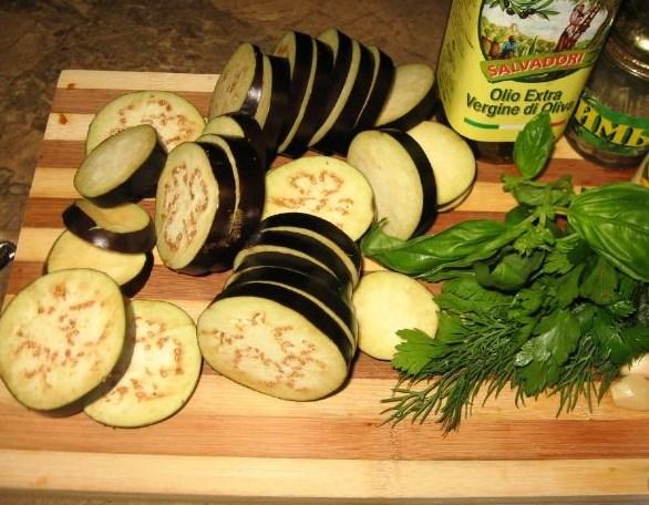 Рецепт Баклажаны жареные маринованные суточные