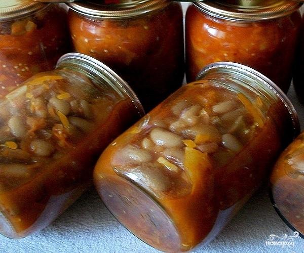Салат с бобами на зиму - фото шаг 11