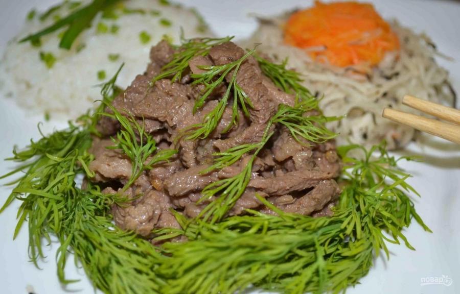 салат мясо по китайски рецепт с фото