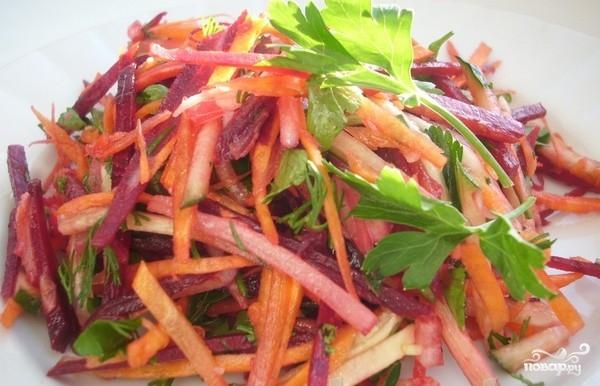 Рецепт Салат из капусты и свеклы