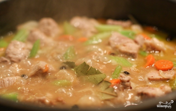 Рагу со свининой, овощами и лапшой - фото шаг 6
