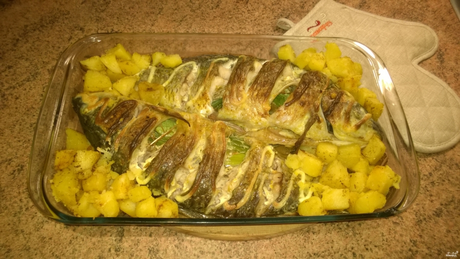 Как сделать рыбу в духовке фото