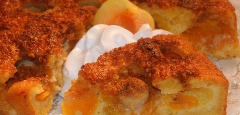 Абрикосовый пирог с марципаном - фото шаг 6