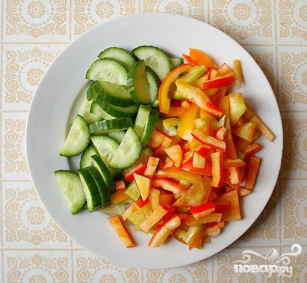 Греческий салат на Новый год - фото шаг 3