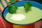 Крем-суп из зеленого горошка и мяты
