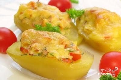 Рецепт Картошка с помидорами и фаршем