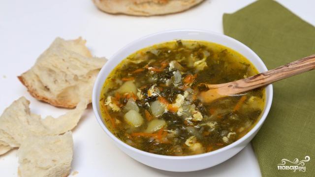 Щавелевый суп без мяса - пошаговый кулинарный рецепт на Повар.ру