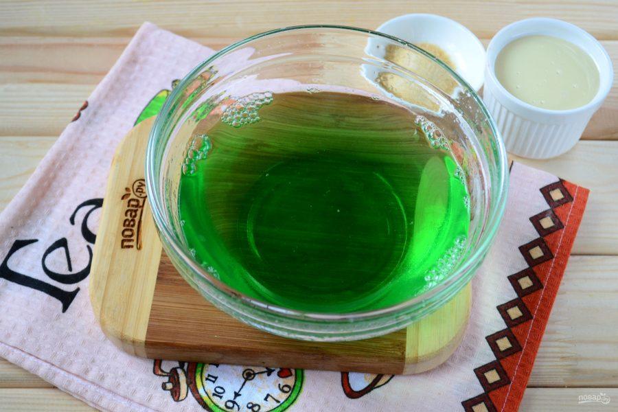 Как сделать зелёное желе 285
