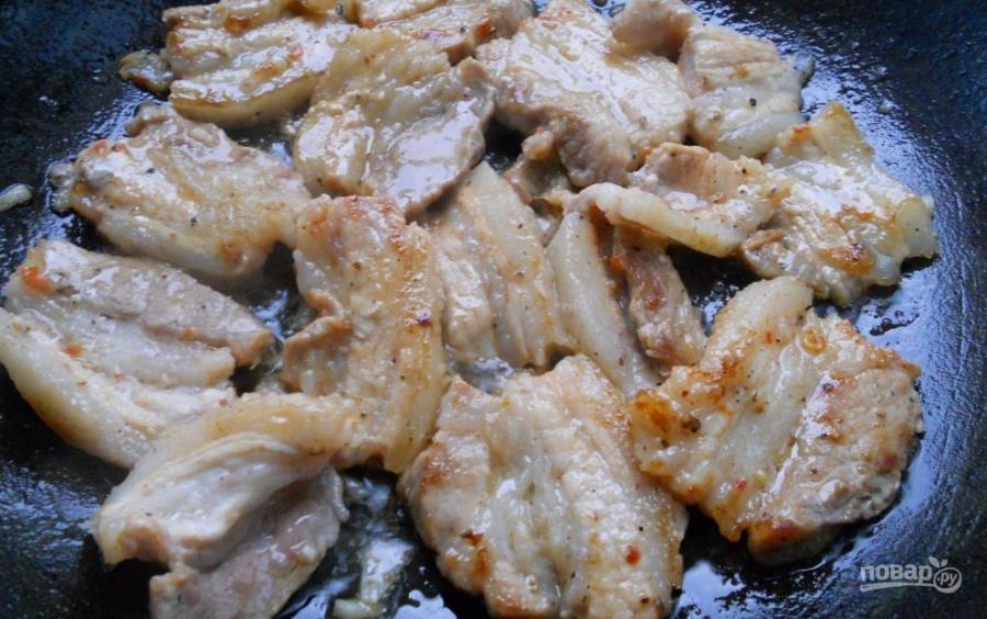Грудинка свиная жареная - фото шаг 4