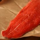 Рецепт Жареный лосось с черничным соусом