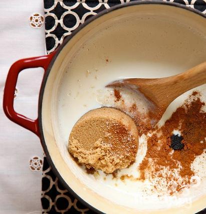 Рисовый пудинг с ежевикой - фото шаг 3