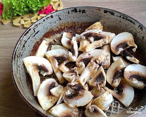 Салат со свининой и шампиньонами - фото шаг 2