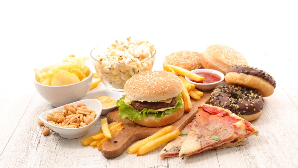 Жирная, вредная, не полезная еда