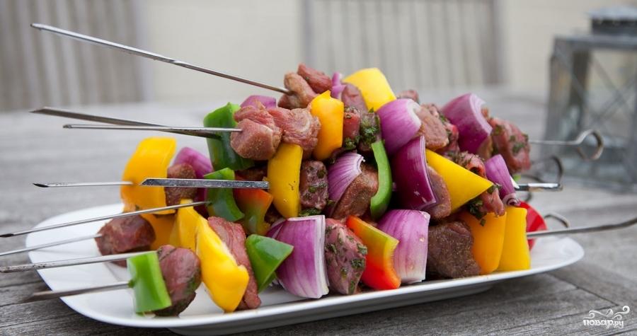 Шашлык из баранины с овощами - фото шаг 3