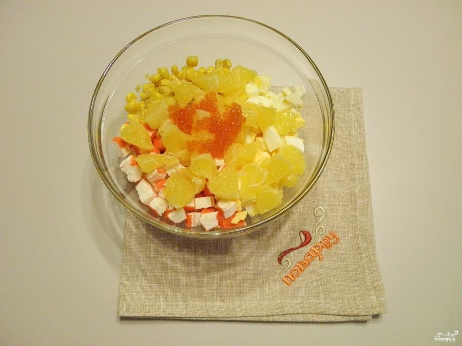 салат с крабовыми палочками и жареными грибами рецепты с фото