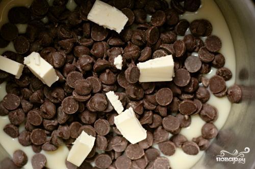 Овсяный десерт с шоколадом и орехами - фото шаг 2