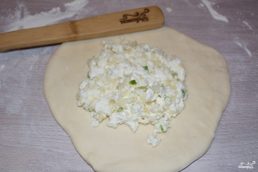 Творожный пирог с картошкой - фото шаг 6