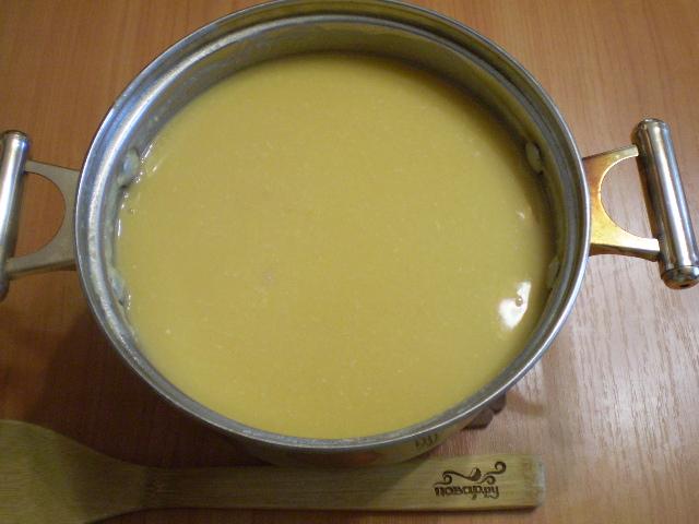 Гороховый суп-пюре с гренками - фото шаг 7