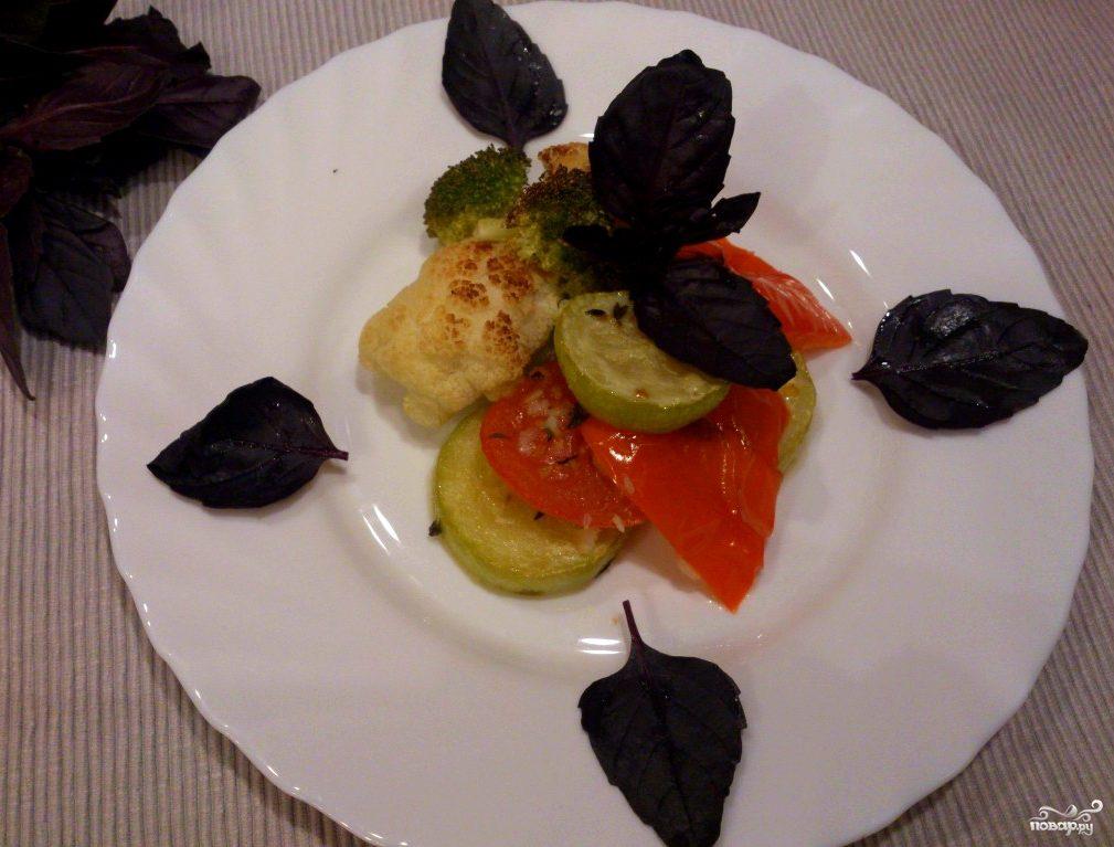 овощи на гриле дома в духовке рецепт