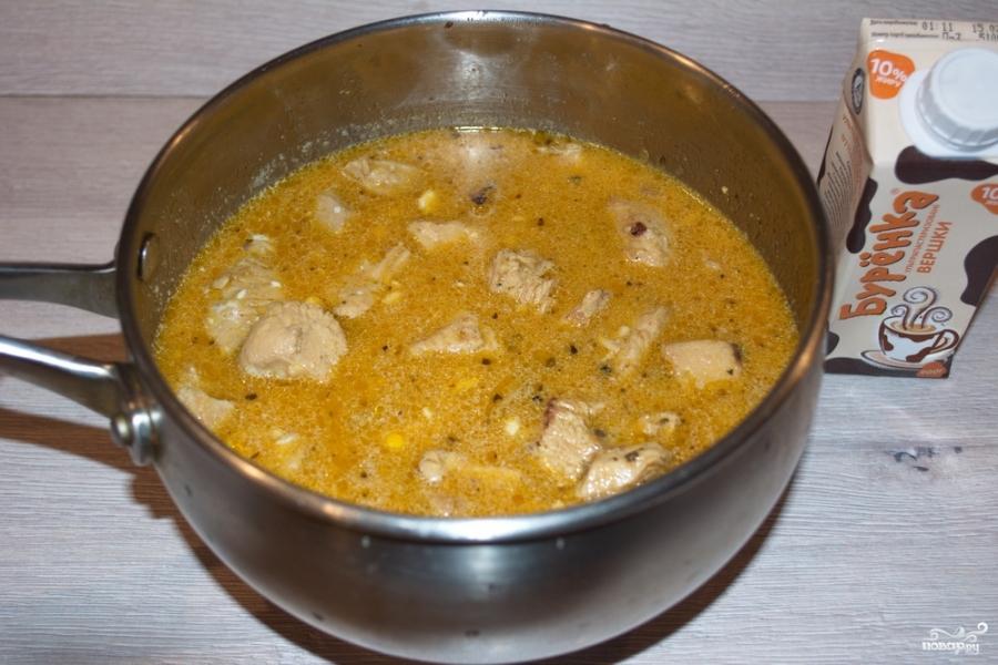 Куриное филе в грибном соусе - фото шаг 6
