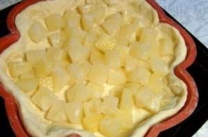 Творожный пирог с ананасами - фото шаг 6