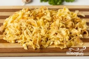 Салат с вареной курицей - фото шаг 4