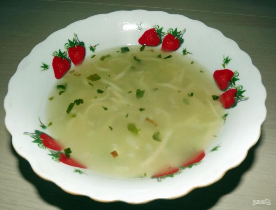 Суп из лапши с курицей - фото шаг 7